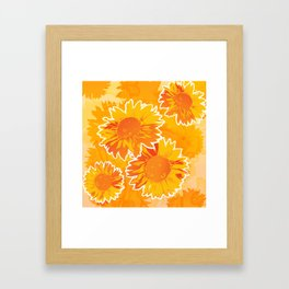 Sunflower Jubilee Framed Art Print