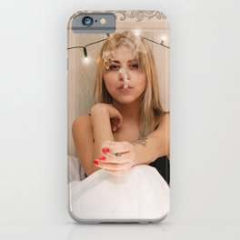 Smoking in Bed iPhone Case
