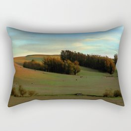 Last Moments of Sunset Glow, Sonoma County Hills Rectangular Pillow