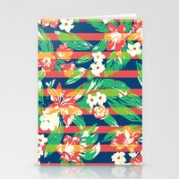tropical Stationery Cards featuring Tropical by Steven Toang