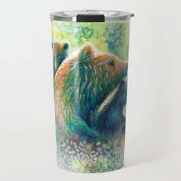 Mother Grizzly Bear Travel Mug