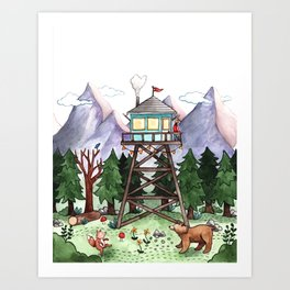 Mountain Lookout Art Print