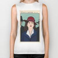 agent carter Biker Tanks featuring Agent Carter by saintsandstorms