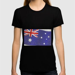 Flag of Australia Grunge T-shirt