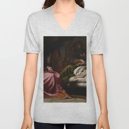 Felice Ficherelli - Antiochus Prince of Syria and Stratonica His Stepmother Unisex V-Neck