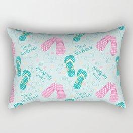I love the beach Rectangular Pillow
