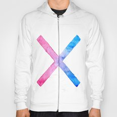SUICIDE SQUAD HARLEY QUINN INSPIRED RED AND BLUE CROSS. Hoody