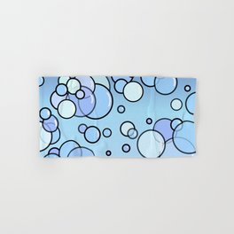 Bubbles on Blue Hand & Bath Towel