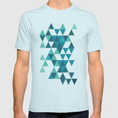 A Little Respect SMALL Light Blue Mens Fitted Tee