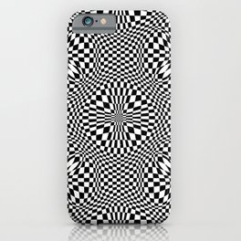 Checkered moire VIII iPhone Case