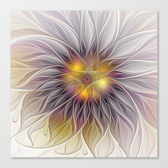 Luminous Flower, Abstract Fractal Art Canvas Print