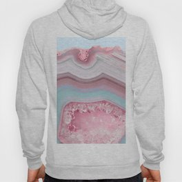 Blush and Teal Agate Hoody