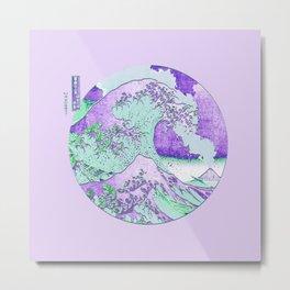Great Wave Eruption Purple Metal Print