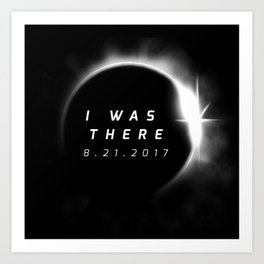 Total Solar Eclipse August 21 2017 Art Print