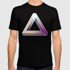 Penrose Triangular Universe LARGE Mens Fitted Tee Black