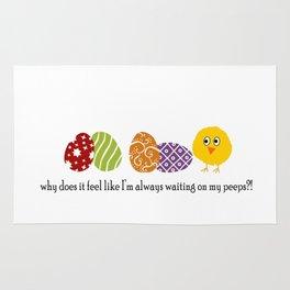 Waiting on Peeps on Easter Rug