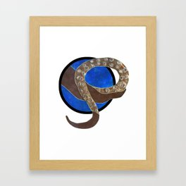 Creature of Water (porthole edit) Framed Art Print