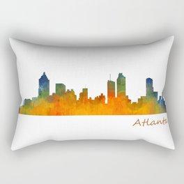 Atlanta City Skyline watercolor Hq v1 Rectangular Pillow