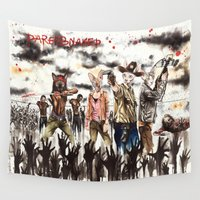 the walking dead Wall Tapestries featuring The Walking dead Sphynx by Psyca
