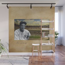 Baseball Vintage Lou Gehrig New York Yankee Wall Mural