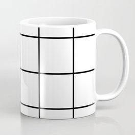 BLACK AND WHITE GRID Coffee Mug