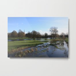 On Lake Gadebridge Metal Print