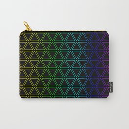 Rainbow Triangularity Carry-All Pouch