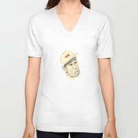 tyler spangler V-neck T-shirts featuring Tyler by withapencilinhand