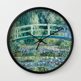 1899-Claude Monet-Water Lilies and Japanese Bridge Wall Clock