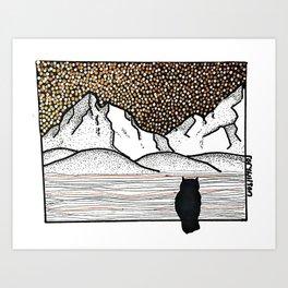 Owl Nightwatch Art Print