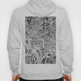 Washington DC City Street Map Hoody
