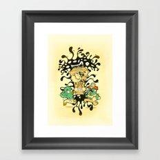 Clockwork parasite Framed Art Print