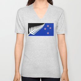 NZ flag (that nearly made it) 2016 Unisex V-Neck