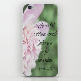 Proverbs 31 Above Rubies iPhone Skin