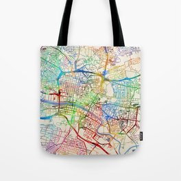Glasgow Street Map Tote Bag