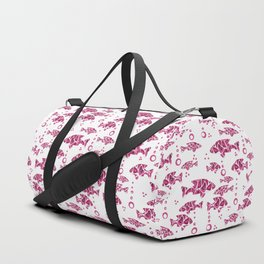Raspberry pink fish. Duffle Bag