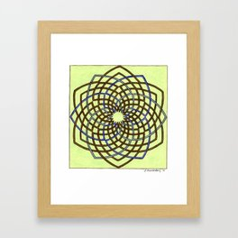 Green and Gold Celtic Knot Framed Art Print
