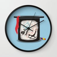 holiday Wall Clocks featuring Holiday by Matisse Lin