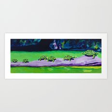 Turtle Walk Art Print