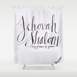 Jehovah Shalom Shower Curtain