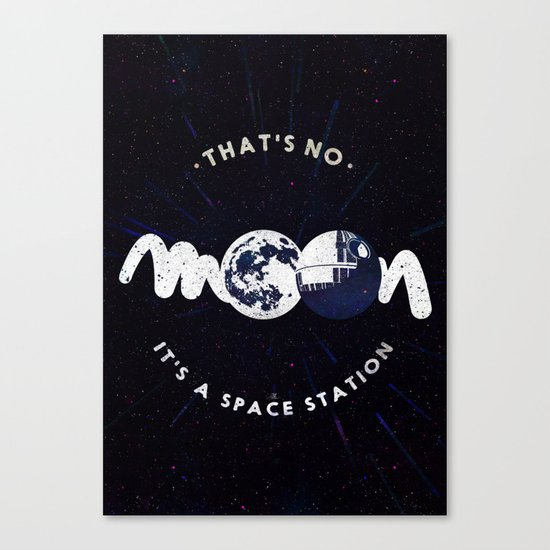 That's no moon. It's a space station v2 Canvas Print