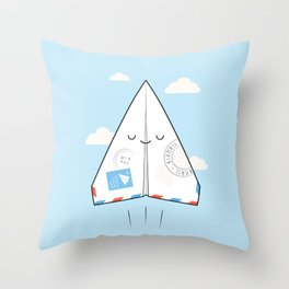 Airmail - via paper plane ! Throw Pillow