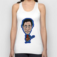 lou reed Tank Tops featuring Lou Reed Rock God by Adam Metzner