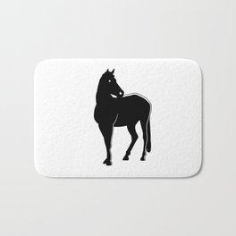 Horse Black Silhouette Animal Pet Cool Style Bath Mat