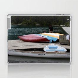 Moraine Lake kayaks Laptop & iPad Skin