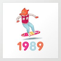 1989 Art Prints featuring 1989 by Laura Wood