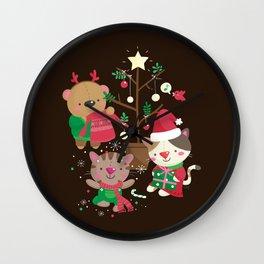 Holiday Crew Wall Clock