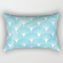 Mermaid Fans: Ocean Mist Rectangular Pillow