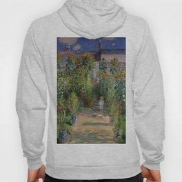 """Claude Monet """"Monet's garden at Vétheuil"""", 1880 Hoody"""