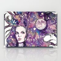 the moon iPad Cases featuring moon by Beth Jorgensen